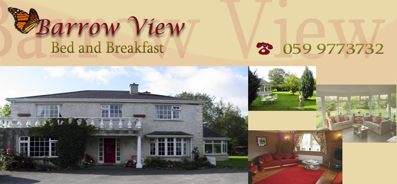 Barrow View, Bed and Breakfast, Milltown, Borris, County Carlow, Ireland.